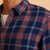 Marine Layer Classic Fit Indigo Twill Indigo Red Plaid