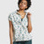 United by Blue Women's Natural SS Button Down Meadow