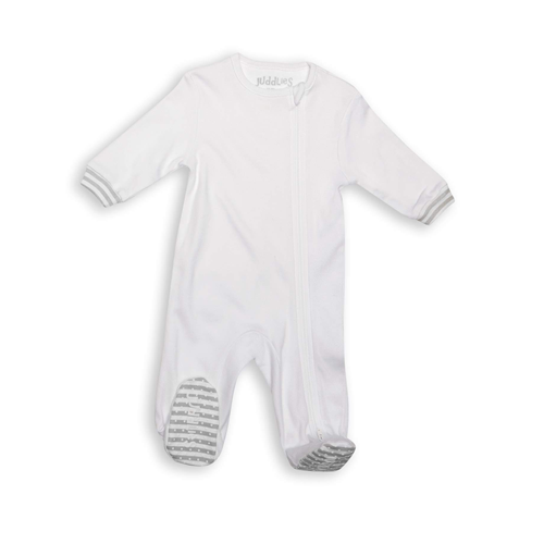 Juddlies Sleeper White and Grey – M 6-12m