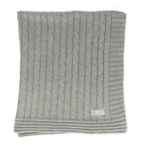 Child To Cherish Cable Knit Blanket – Grey