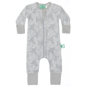 ErgoPouch-Cotton Layers-Bamboo Layers Long Sleeve - 0.2tog - Rainforest Leaves-6-12M