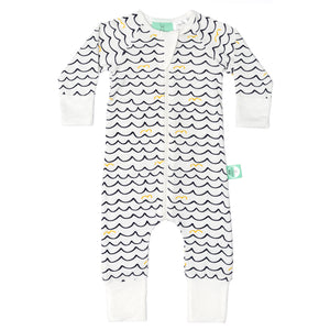ErgoPouch-Cotton Layers-Bamboo Layers Long Sleeve - 0.2tog - Waves-6-12M
