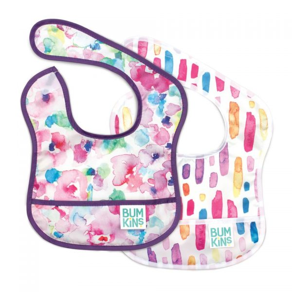 Bumkins – Starter Bib 2PK Girl, – Watercolour Flower