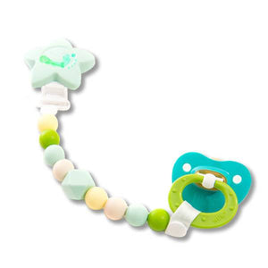 Petite Creations Green Star Silicone Pacifier Holder