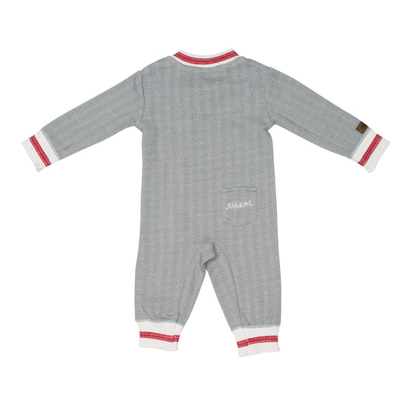 Organic Cottage Playsuit - Driftwood 3-6M