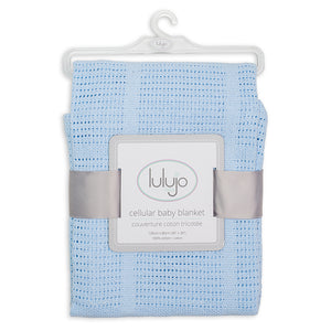 Lulujo – Cellular Blankets-Blue