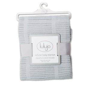 Lulujo – Cellular Blankets-Grey