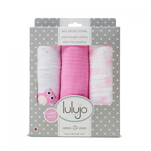 Lulujo-Mini Muslin Cotton Cloths – Pretty in Pink