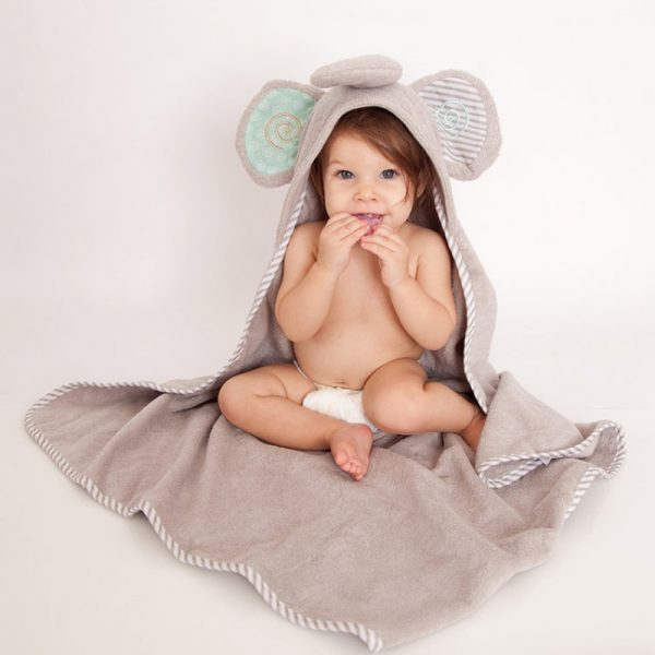 Zoocchini – Baby Towel – Elle the Elephant