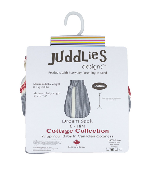 Juddlies Cottage Dream Sack – Driftwood Grey 2.5 Tog – 6-18M