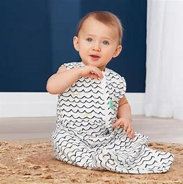 ErgoPouch-Bamboo Swaddle Bag - 0.2tog - Waves-3-12M