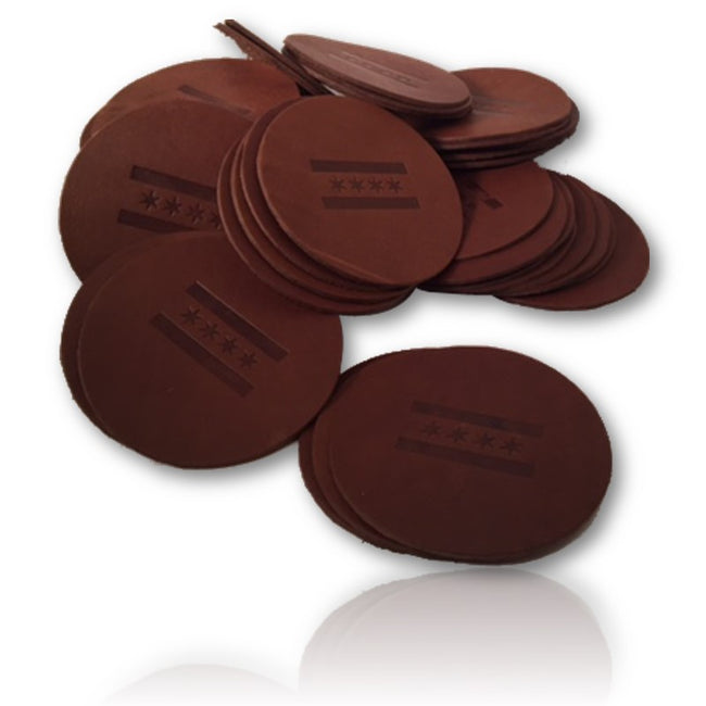 Leather Coasters (Custom Stamped)
