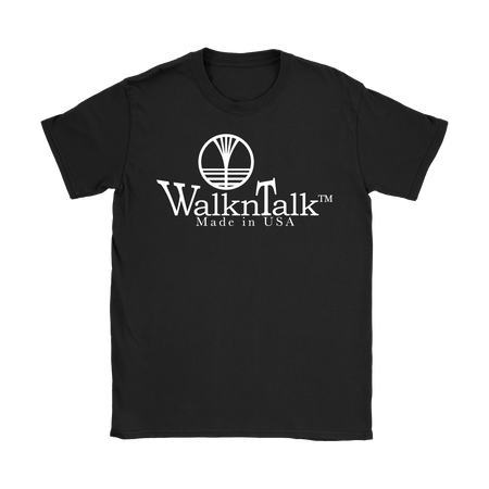 Women's WalknTalk Black Tee V2