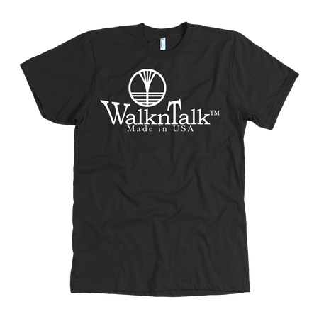 Men's WalknTalk Black Tee