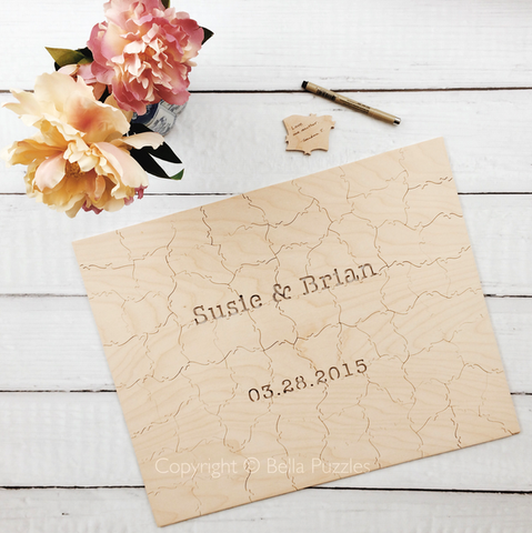 Wedding Guestbook Puzzles