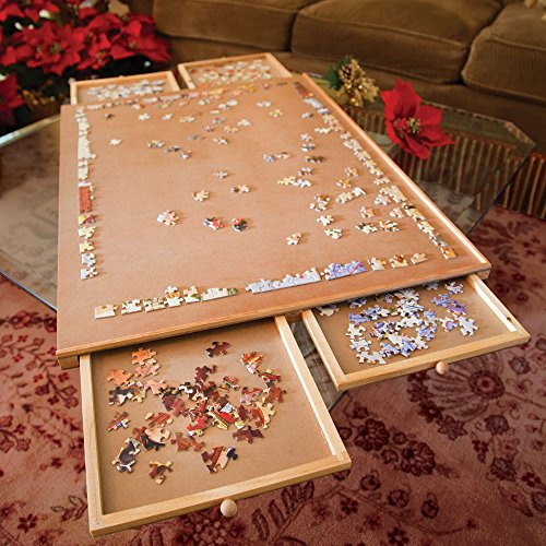 Jumbo Wooden Puzzle Board with Drawers