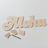 The custom wooden ALOHA puzzle wedding guestbook alternative looks great on its own, but after your wedding guests sign it, it may also become a cherished piece of home decor. Have it personalized with initials or date. Made just for you by BELLA PUZZLES.