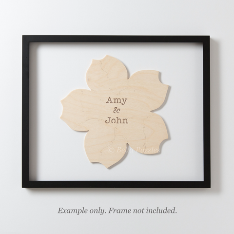 CHERRY BLOSSOM Puzzle Wedding Guest Book