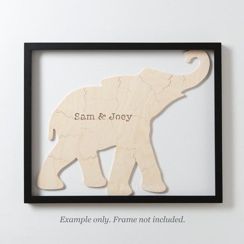 ELEPHANT Puzzle Guestbook or Gender Reveal Puzzle