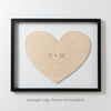 HEART Custom Wooden Puzzle Guestbook Alternative