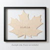 MAPLE LEAF Custom Wooden Puzzle Guest Book Alternative