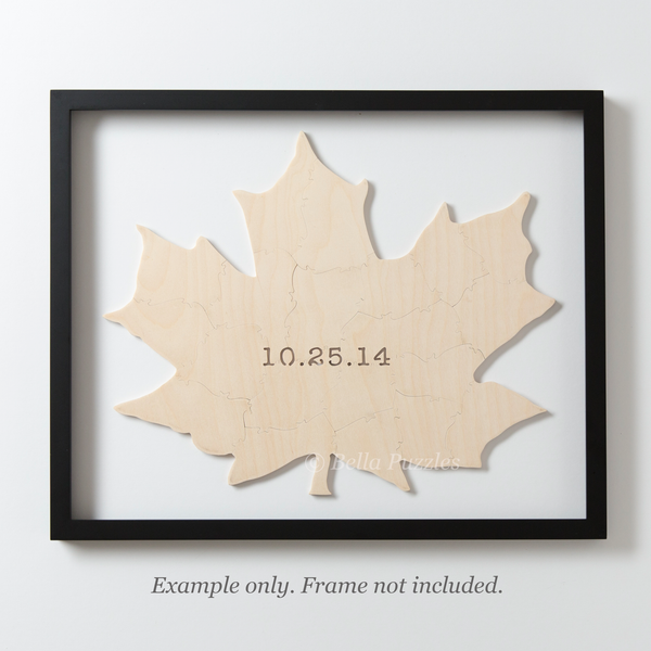 MAPLE LEAF Puzzle Wedding Guest Book