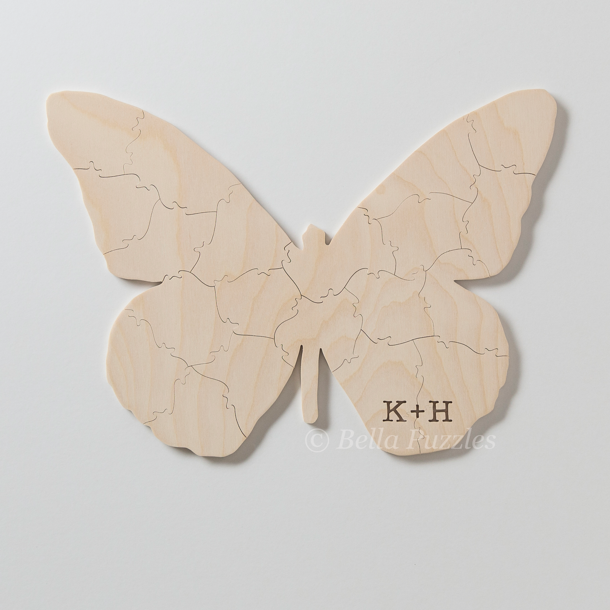 BUTTERFLY Puzzle Wedding Guest Book