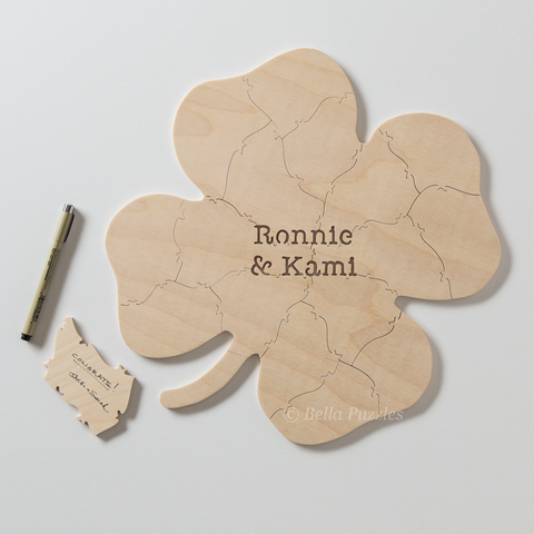 CLOVER Puzzle Wedding Guest Book