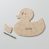 DUCK Puzzle Guest Book Alternative or Gender Reveal Puzzle