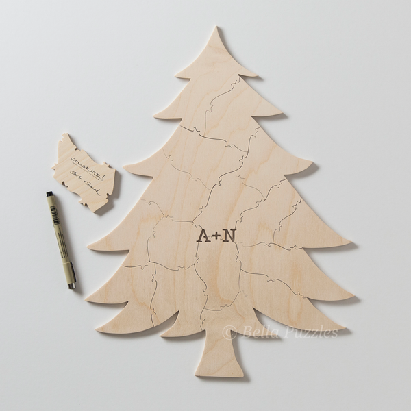 EVERGREEN TREE Puzzle Guest Book
