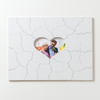 WHITE FRAME with HEART Custom Wooden Puzzle Guest Book Alternative