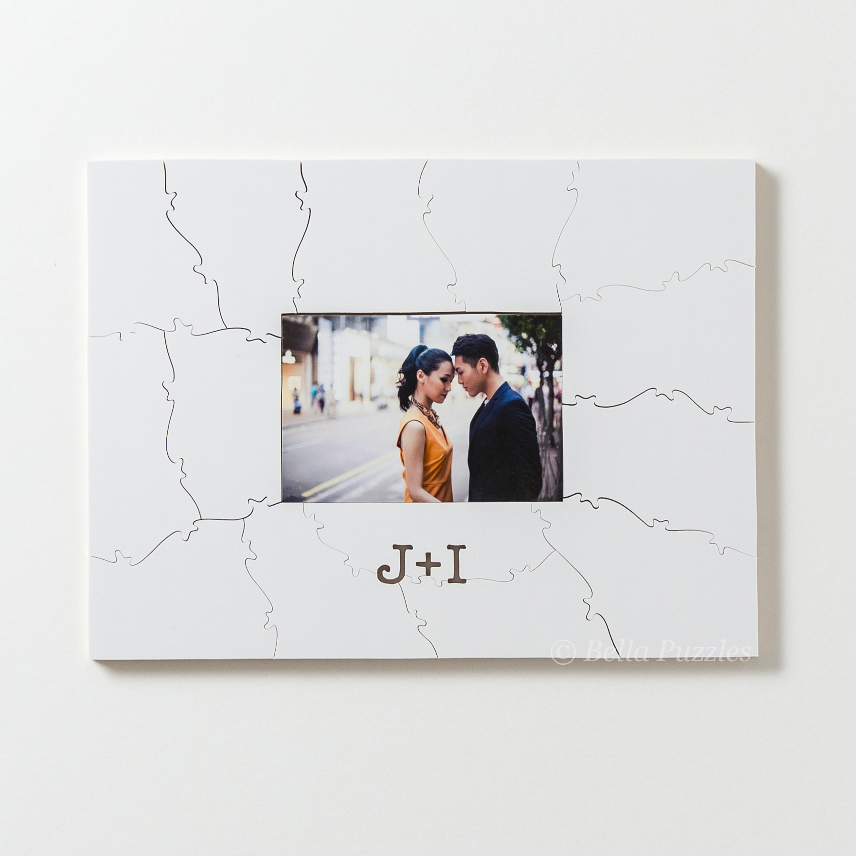 WHITE FRAME Puzzle Wedding Guest Book Alternative