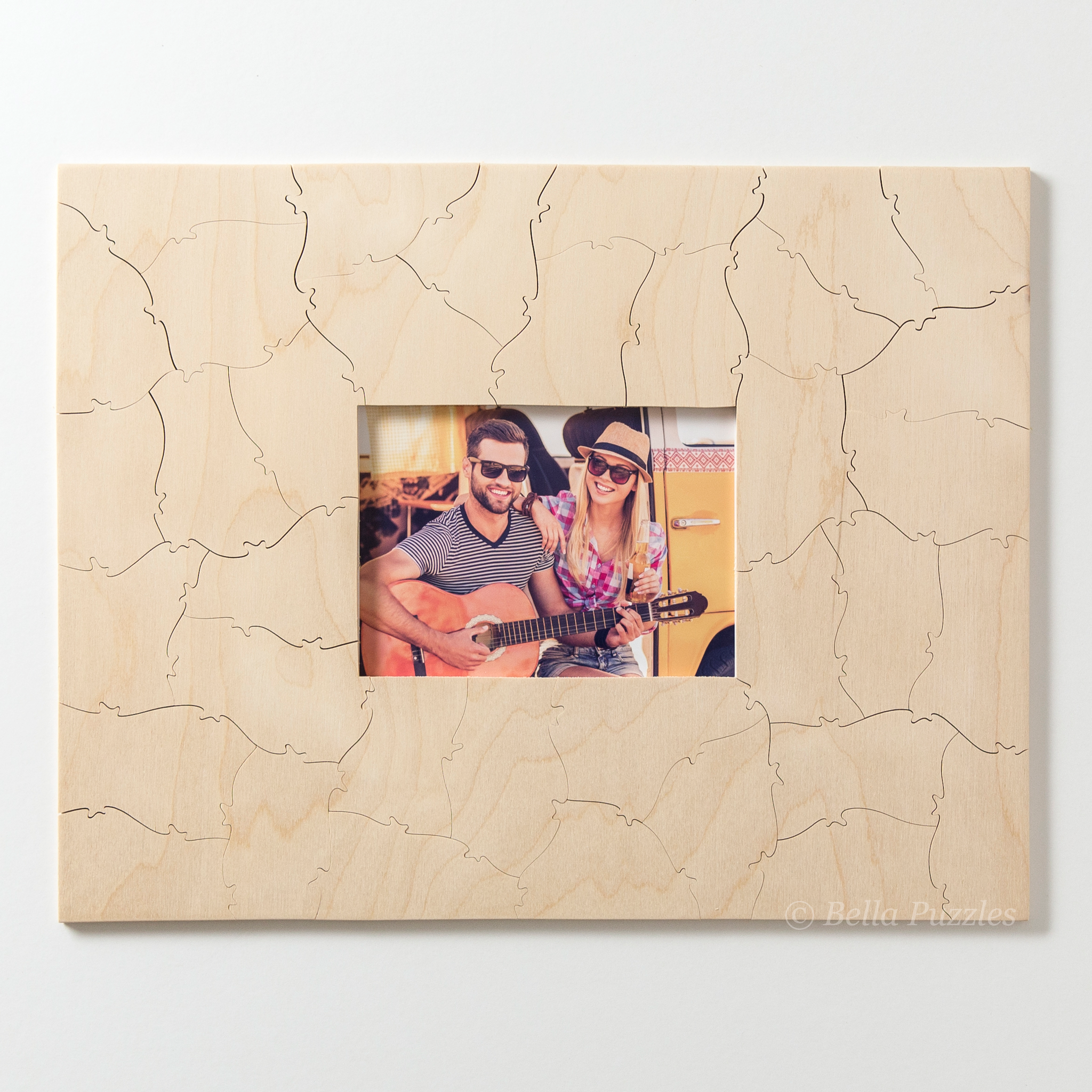 WOOD FRAME Puzzle Guest Book Alternative