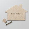 HOUSE Custom Wooden Puzzle Guestbook Alternative