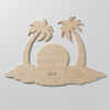 PALM TREE Custom Wooden Puzzle Guest Book Alternative