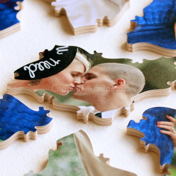 Simple PHOTO Puzzle Wedding Guest Book