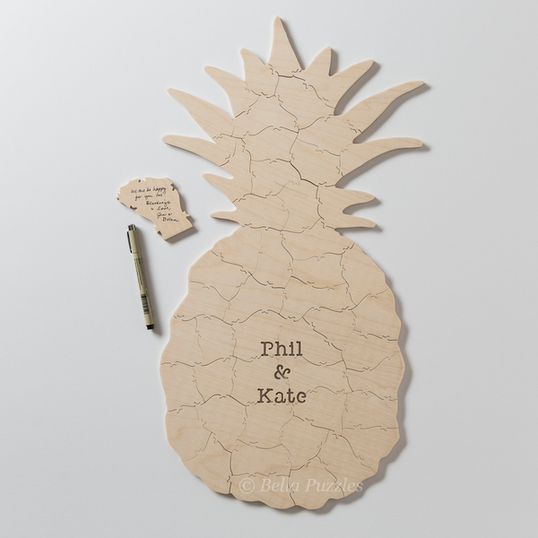 PINEAPPLE Puzzle Wedding Guest Book