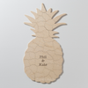 PINEAPPLE Custom Wooden Puzzle Guest Book Alternative