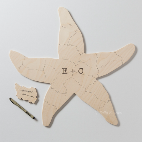SEASTAR Puzzle Wedding Guest Book