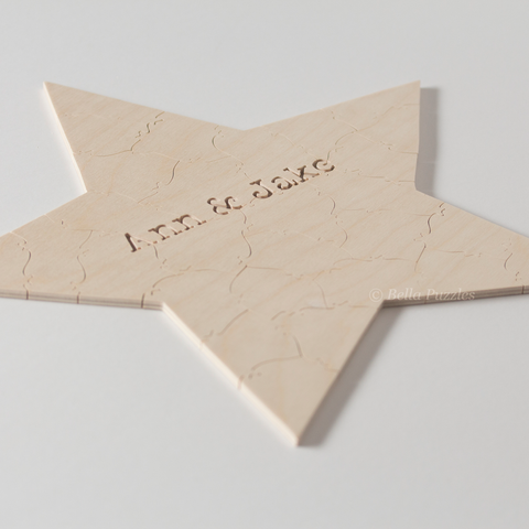 STAR Puzzle Wedding Guest Book
