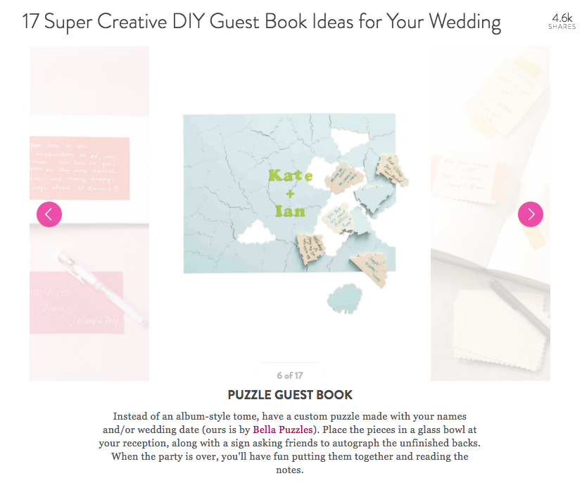HIBISCUS Puzzle Wedding Guest Book
