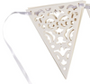 Die-Cut White Paper Lace Pennant Banner