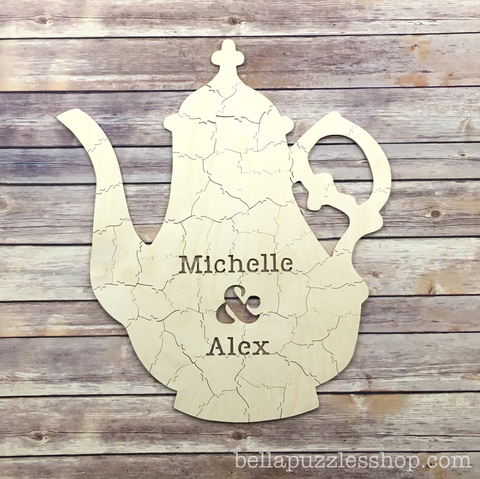 TEAPOT Puzzle Bridal Shower Guest Book