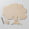 Signed puzzle pieces and personalized TREE wooden puzzle guestbook by Bella Puzzles for weddings, reunions, other special occasions.