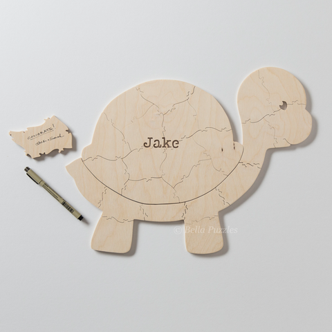 TURTLE Puzzle Baby Shower Guestbook or Gender Reveal Puzzle