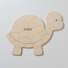 TURTLE Custom Wooden Puzzle Guestbook Alternative for Baby Shower or Gender Reveal