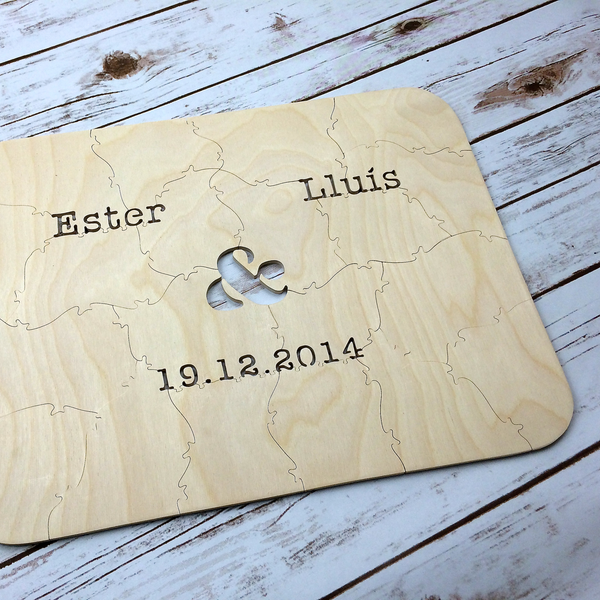AMPERSAND Puzzle Wedding Guest Book