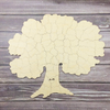 Personalized TREE wooden puzzle guestbook by Bella Puzzles for weddings, reunions, other special occasions.