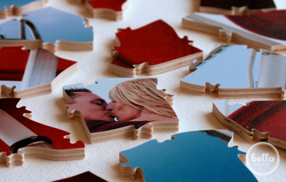 Wedding guest book puzzle custom photo Bella Puzzles