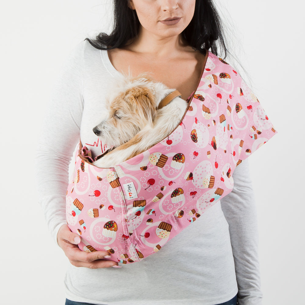 My Little Cupcake Calming Aromatherapy Dog Carrier Sling
